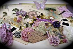 Fields of Violet Project Embellishment Scrapbooking by ZeusandZoe, $29.99