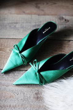 Shoe of the month: Balenciaga 'Knife' satin mules - 5 Inch and Up