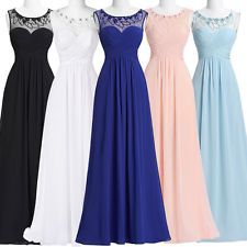 Plus Size Chiffon Long Prom Evening Party Ball Gown Bridesmaid Formal Maxi Dress