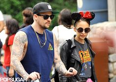 Nicole Richie and Joel Madden in Disneyland   Pictures here