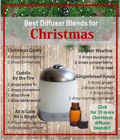 Need a little inspiration for what to put in your diffuser today? click image to check out 40+ of our favorite Christmas diffuser blends