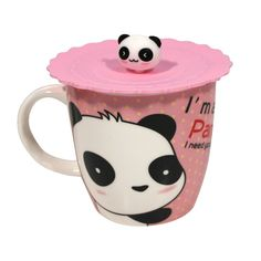 Panda Mug with Top On