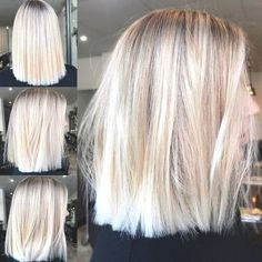 Golden Blonde Balayage for Straight Hair - Honey Blonde Hair Inspiration - The Trending Hairstyle Brown Blonde Hair, Platinum Blonde Hair, Brunette Hair, Short Blonde, Medium Blonde, Hair Medium, Blonde Lob Hair, Blonde Blunt Bob, Short Ombre