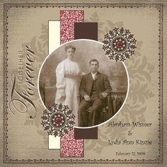 Together Forever...heritage wedding page.