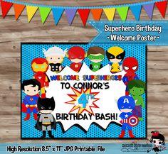 Superhéroe cumpleaños cartel superhéroe cumpleaños cartel