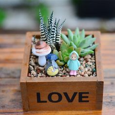flower pots ZAKKA Storage box Wood Retro do old Square Flowerpots, meaty plant, floral organ Containers Wooden Box003