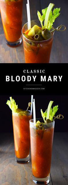 Classic bloody mary recipe made with tomato juice, vodka, lemon and lime, horseradish, hot sauce, and worcestershire sauce.