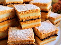 Prăjitură cu bulion și cremă de griș, de post Cornbread, Nutella, Cheesecake, Ethnic Recipes, Desserts, Food, Cakes, Sweets, Millet Bread