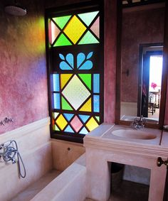 Click to Close Moroccan Bathroom, Mosaics, Bathrooms, Windows, Ceramics, Chic, Home, Art, Houses