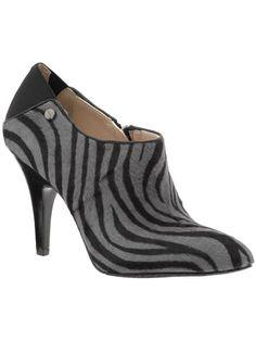 Zebra print booties.