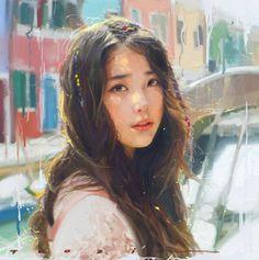 Large Canvas Wall Art, Abstract Canvas, Non Plus Ultra, Kpop Drawings, Concept Art, Fan Art, Portrait, Artwork, Beautiful