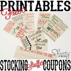 Free Printable Stocking Stuffer Coupons by whitneydawn