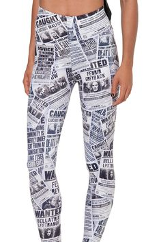 Wanted Wall HWMF Leggings by Black Milk Clothing $85AUD