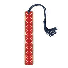 polka dots pattern bookmark - cyo customize gift idea