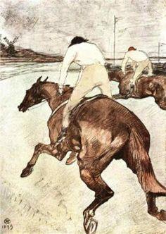 The Jockey - Henri de Toulouse-Lautrec