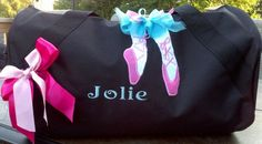 Personalized or Monogrammed Ballerina Barrel Duffel Dance Tote Bag by EmbroiderybySharon Ballet Bag, Baby Items, Ballerina, Barrel, Boy Or Girl, Dance, Tote Bag, Trending Outfits, Unique Jewelry