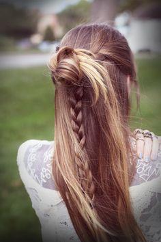 braid-bun half-up combo