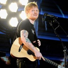 Happy 26th birthday, #EdSheeran! (Photo credit: Kevin Mazur/Getty Images for NARAS)
