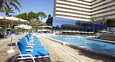Situated 500 metres from Playa de Palma Beach, Grupotel Taurus Park offers tennis courts, indoor and outdoor pools, a hot tub and gym. Outdoor Pool, Outdoor Decor, Spain, Rooms, Night, Palmas, Bedrooms, Sevilla Spain