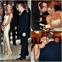 March 1, Monte Carlo- TSH Prince Albert and Princess Charlene attended a charity gala event for St. David's Day yesterday at the Hotel de Paris. Benefits from the gala will aid the Princess Charlene Foundation.