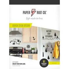 Paper Riot Travel Often Large Playbook Wall Decals : Target