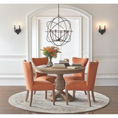 Home Decorators Collection Kingsley Sandblasted White Round Dining Table-9690100980 - The Home Depot