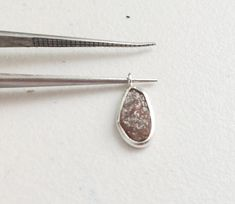 2 Pcs Pink Diamond Connectors 925 Silver by gemsforjewels on Etsy