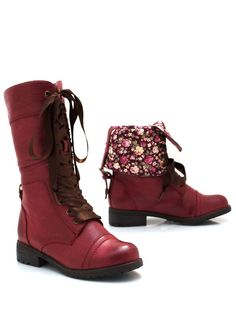 lace-up boots $45.00