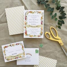 «This rustic take on our Wonderland suite is THE PERFECT invite for a fall wedding. Our designers got skillz.  #ivebeensmitten»