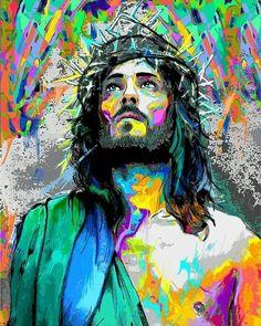 Images Du Christ, Pictures Of Jesus Christ, Religious Images, Religious Art, Croix Christ, Jesus Christ Painting, Jesus Drawings, Jesus Wallpaper, Christian Artwork