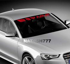 V6 SPORT Racing edition Vinyl Decal car emblem logo skirt door sticker WHITE//RED