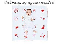 8b592fc3d612a Tapis d éveil et de jeu pour bébé et enfant en coton biologique - CalinCalo
