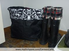 A special spot for all those spring hoodies.  Folded and nicely stored in the Thirty-One Small Utility bin.  Sorry the boots are from Target.  http://www.mythirtyone.com/CarmenCurts/
