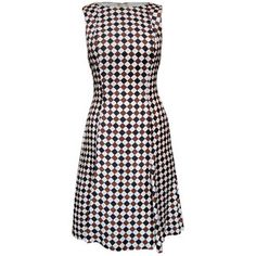 60s Diamond Check Silk Dress, 178€, now featured on Fab.
