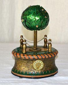 RARE Unusual French Musical Singing Bird Music Box Automaton with Clock Watch   eBay