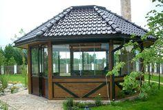 Outdoor Cafe, Outdoor Living, Alpine House, Gazebo Plans, Backyard Patio Designs, Modern Loft, Deck Design, Building Plans, Pergola