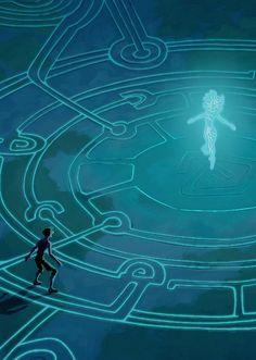 Atlantis, lost empire. Princess Kida and the crystal