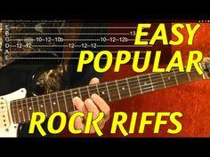 Easy Popular Rock Riffs - Guitar Lesson - YouTube