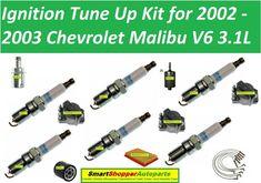 Tune Up Kit Air Cabin Oil Fuel Filters Cap Rotor Wire Spark Plug FIT CHEVROLET SILVERADO 1500 V6 4.3L 2003-2005