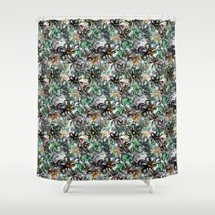 tropic thunder floral pattern Shower Curtain by emmaleeerose - $68.00