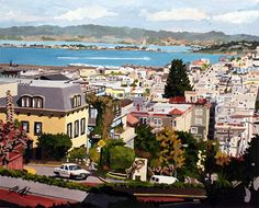"""New Commissioned painting titled """"Lombard St""""  Acrylic on Canvas, 24"""" x 30"""""""