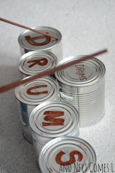 Spelling with Tin Can Drums- pinned by @PediaStaff – Please Visit  ht.ly/63sNt for all our pediatric therapy pins
