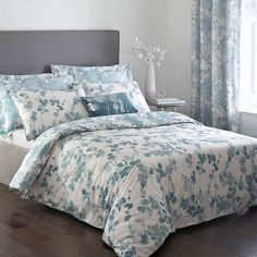 Honesty Teal Duvet Cover and Pillowcase Set Teal Bedding Sets, Matching Bedding And Curtains, Luxury Bedding Sets, Bedroom Sets, Gray Bedroom, Modern Bedding, Comforter Sets, Grey Comforter, Bedroom Decor