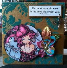 easily the most beautiful handmade card i've seen so far...i aspire to this one day!