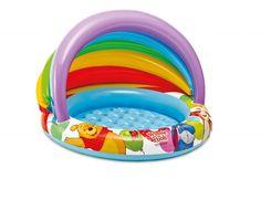 Baby pool met leuke plaatjes. Babyzwembad Winnie The Pooh met afdakje. Bestel dit leuke babyzwembadje vandaag nog bij uw zwembaden specialist! - € 12,95