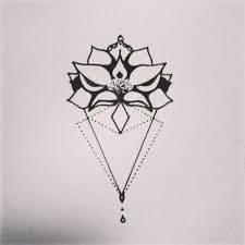Resultado de imagem para geometric lotus tattoo
