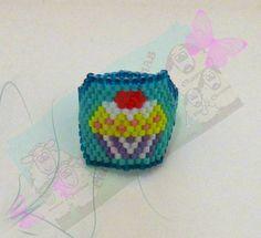 Churras y Merinas Manualidades: Anillo Cupcake miyuki delica
