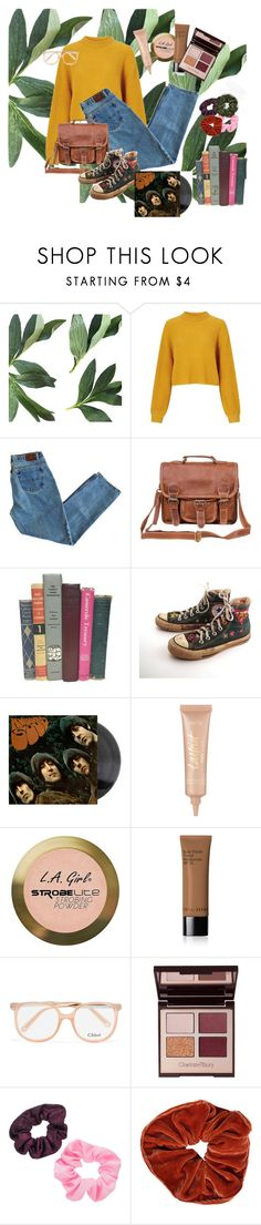 """""""soft day"""" by gh0stt ❤ liked on Polyvore featuring Miss Selfridge, Mahi, Converse, tarte, Charlotte Russe, Bobbi Brown Cosmetics, Chloé, Charlotte Tilbury, Mudd and vintage"""