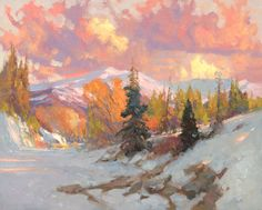Painting of Winter Landscape by Kevin Macpherson