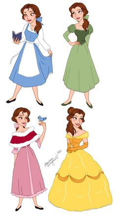 Belle's Wardrobe by ~lauren-draghetti on deviantART